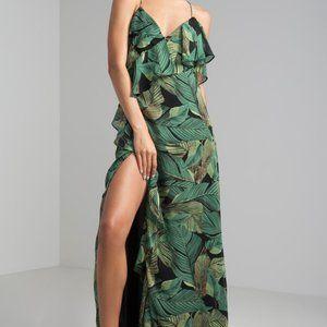 🇨🇦 Swaying Palm Tree Maxi Dress NWT